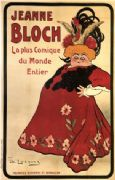 "Vintage Jeanne Bloch ""La Plus Comique Du Monde Entier"" Advertising Poster."